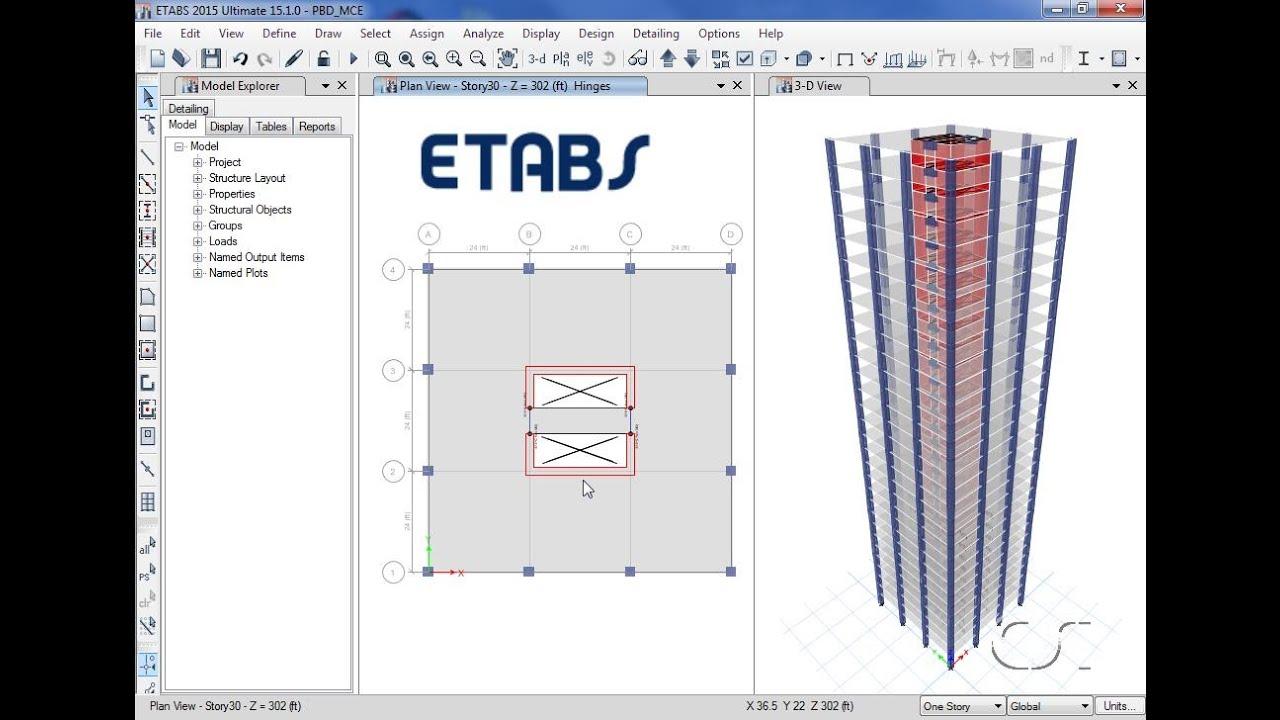 آموزش طراحی سازه بتنی با ETABS